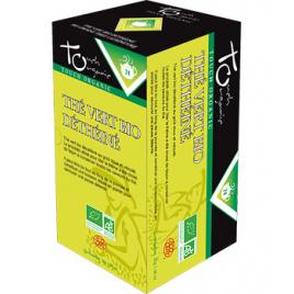 Touch Organic Thé vert BIO déthéiné 20 sachets 30g Touch Organic Accueil Onaturel.fr