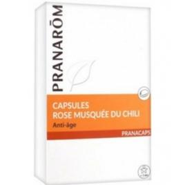 Pranarôm Rose musquée du Chili 40 capsules Pranarôm Accueil Onaturel.fr
