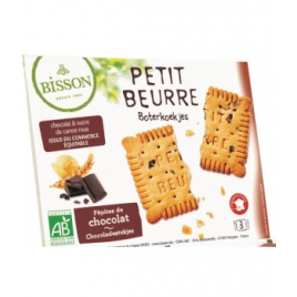 Bisson Petit Beurre Pépites de Chocolat Pocket 28g Bisson Biscuits chocolatés Bio Onaturel.fr