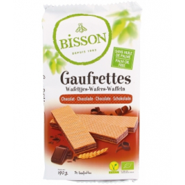 Bisson Gaufrettes chocolat 190g Bisson Biscuits Bio Onaturel.fr