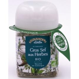Provence D Antan Gros sel de Camargue aux herbes bio pot végétal biodégradable 90g Provence D Antan Accueil Onaturel.fr