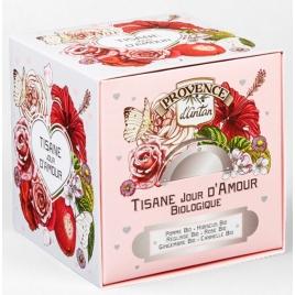 Provence D Antan Tisane Be Cube Jour D'amour bio 24 sachets 60 gr recharge carton Provence D Antan