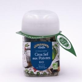 Provence D Antan Gros sel de camargue aux 3 poivres pot végétal biodégradable 90g Provence D Antan