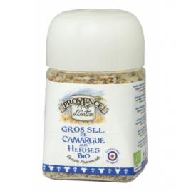 Provence D Antan Gros sel de Camargue aux herbes bio boîte métal 90g Provence D Antan Accueil Onaturel.fr