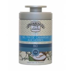 Provence D Antan Sel fin de Camargue aux Herbes bio boîte métal 90g