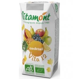 Vitamont Tétra Cocktail Vita 12 Fruits Bio 25 cl Vitamont Accueil Onaturel.fr