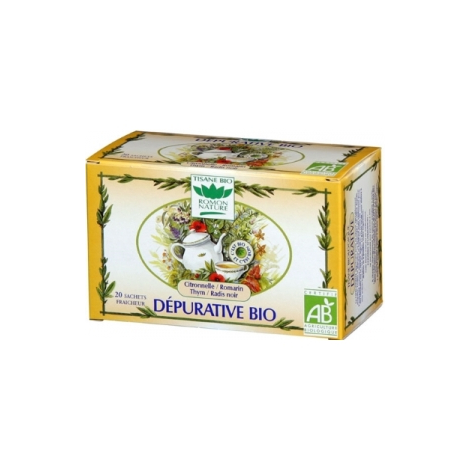 Romon Nature Tisane Dépurative bio 20 sachets 32g