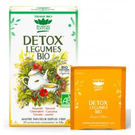Romon Nature Tisane Detox bio aux Légumes 20 sachets 32g Romon Nature Accueil Onaturel.fr