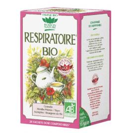 Romon Nature Tisane Respiratoire bio 20 sachets 32g Romon Nature Accueil Onaturel.fr