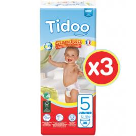 Tidoo Jumbo 3 x 36 Culottes d'Apprentissage JUNIOR (T5) 12/18kg