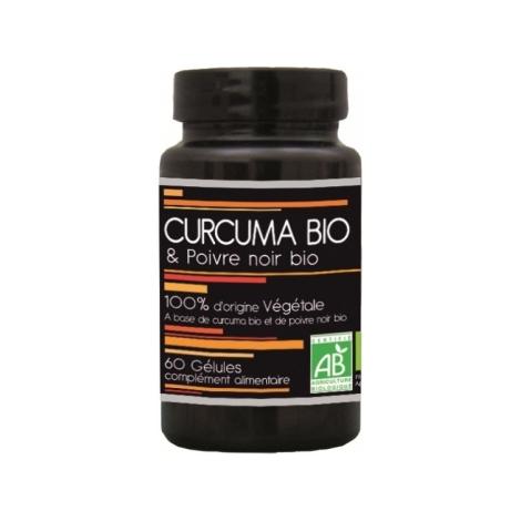 Aquasilice Curcuma Bio et Poivre Noir Bio 60 Gélules Aquasilice
