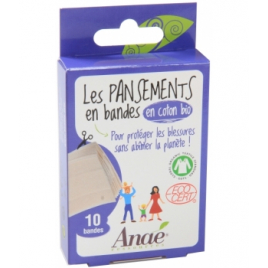 Anae 10 Bandes de Pansements en Coton Bio Anae Accessoires Bio Onaturel.fr