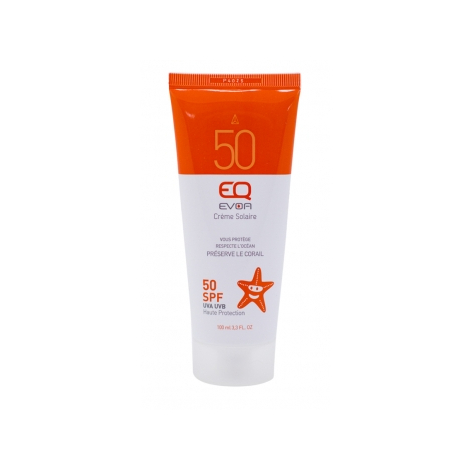 EQ Crème solaire haute protection SPF 50 100ml EQ Protection solaire Bio Onaturel.fr