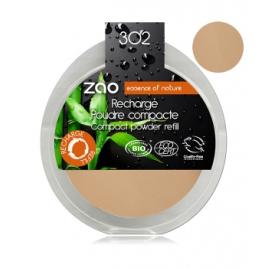 Zao  Recharge Poudre Compacte 302 Beige orangé 9g