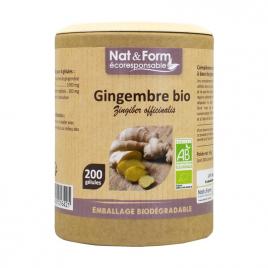 Nat et Form Gingembre Bio 200 gélules Nat et Form
