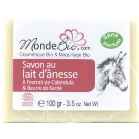 Monde bio savon 40 % lait d'ânesse bio karite et extrait de calendula 100gr Le Monde du Bio