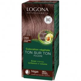 Logona coloration végétale ton sur ton 090 en poudre Chataîgne dorée 100g Logona