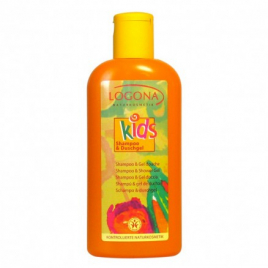 Logona Kids Shampoing + Gel douche extra fruité 200ml Logona