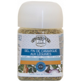 Provence D Antan Sel fin de Camargue aux Légumes pot végétal biodégradable 90g Provence D Antan