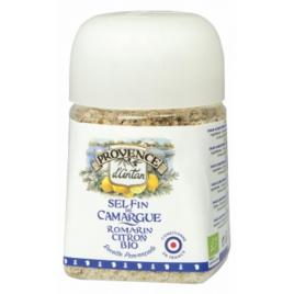 Provence D Antan Sel Fin de Camargue Romarin Citron pot végétal biodégradable 80g Onaturel