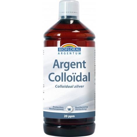 Biofloral Argent Colloïdal Naturel 20 PPM 1 litre Onaturel