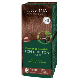Logona Soin colorant végétal en poudre Chocolat 100 g Logona