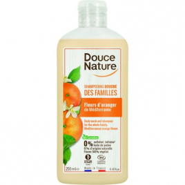 Douce Nature Shampoing Douche fleur d'oranger bio de Méditerranée 250 ml Douce Nature