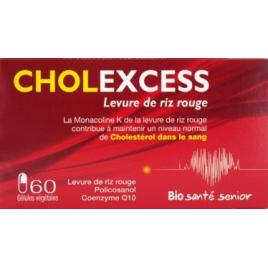 Bio Sante Senior Cholexcess Levure de riz rouge de 60 gélules vegetales Bio Sante Senior