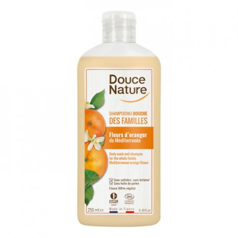 Douce Nature Shampooing Douche Fleur d'Oranger Méditerranée 1L Douce Nature