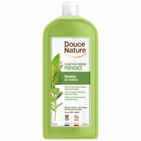 Douce Nature Shampooing Douche Provence Verveine de l'Ardèche 1L Douce Nature