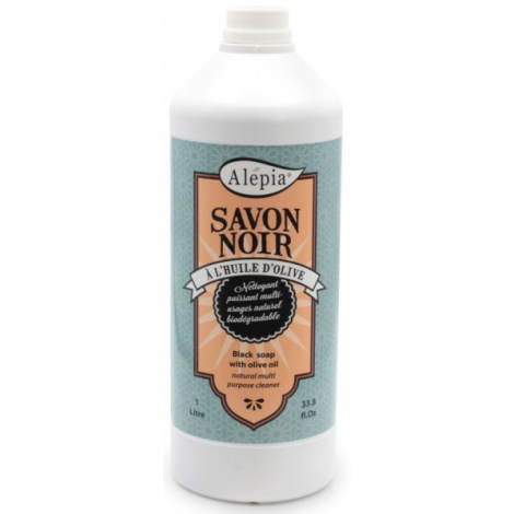 Alepia Savon Noir liquide ménager Multi Usages 1L Alepia
