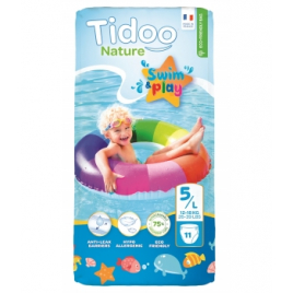 Tidoo 12 Couches de Bain (T5/L) 12/18kg Onaturel