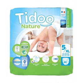 Tidoo 22 Couches Single Pack (T5/XL) 12/25kg Onaturel