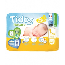 Tidoo 26 Couches Single Pack (T1/XS) 2/5kg Onaturel