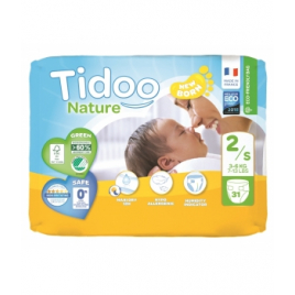 Tidoo 31 Couches Single Pack (T2/S) 3/6kg Onaturel