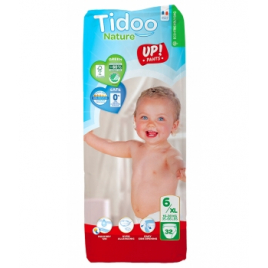 Tidoo 32 Culottes d'Apprentissage Jumbo Pack (T6/XL) 16/30kg Onaturel