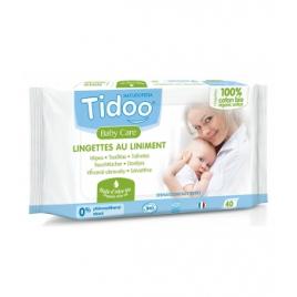 Tidoo 40 Lingettes au liniment à l'huile d'olive et coton bio Tidoo