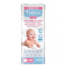 Tidoo 80 Maxi Carrés de Coton Bio TidooCare Onaturel
