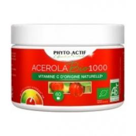 Phyto-Actif Acérola Bio 1000 FAMILIAL AB 60 comprimés Onaturel