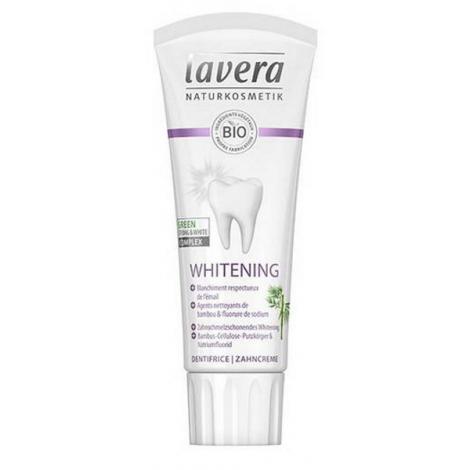Lavera Dentifrice whitening blanchissant bambou fluorure 75 ml Lavera