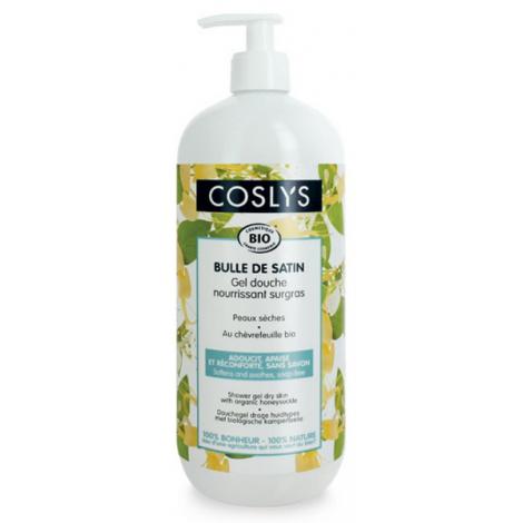 Coslys Gel douche surgras peau sèche à l'extrait de Chèvrefeuille 1L Coslys