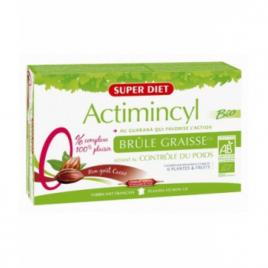 Super Diet Actimincyl au Guarana action brûle graisse goût ananas 20 ampoules de 15ml Super Diet Categorie temp Onaturel.fr