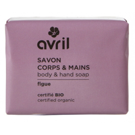Avril Beauté Savon de Provence Corps et Mains Figue 100 gr Onaturel