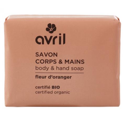 Avril Beauté Savon de Provence Corps et Mains Fleur d'oranger 100gr Onaturel