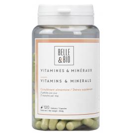 Belle et Bio Vitamines et minéraux naturels 120 gélules Onaturel