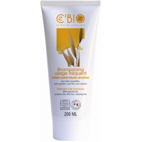 C'Bio Shampoing usage fréquent Miel Calendula Avoine 200 ml C'bio