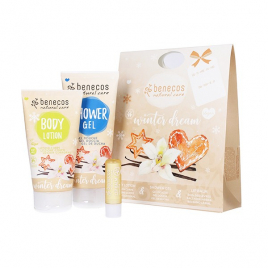 Benecos Coffret Winter dream senteur vanille gel douche + lait corps + baume à lèvres Benecos