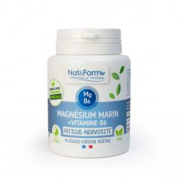 Nat et Form Magnésium marin Vitamine B6 40 gélules 21,9g Nat et Form