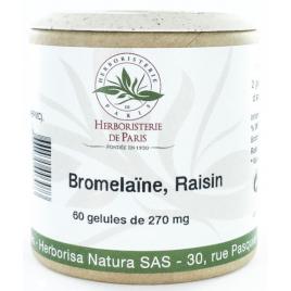 Herboristerie de paris Bromélaine Marc de raisin 60 Gélules végétales Herboristerie De Paris