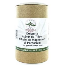 Herboristerie de paris Dolomite Aubier de tilleul Citrates de magnésium et de potassium 120 Gélules Herboristerie De Paris